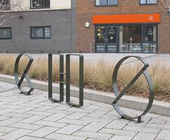Letterform cycle stands - C, H & S