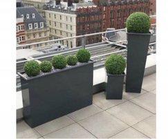 Madrid zintec steel planters