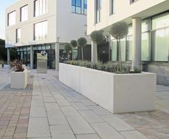 Blyth white concrete planters (bespoke size)