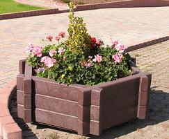 PER301 H Perth Hexagonal Recycled Plastic Planter