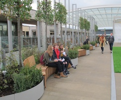 Crinkle Crankle in built planter & integrated seating