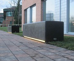 Blyth bench with LED lighting strip