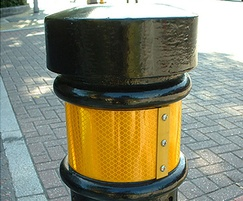 TRL 900 with yellow reflective tape bands, London