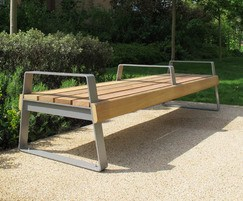 Ribbon XL Bench 4 Person bench with end & mid arms
