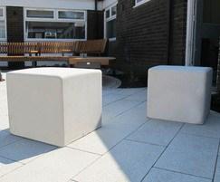 BLS6 Blyth concrete cube seats