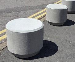 PAB SG Poole smooth grey concrete bollard