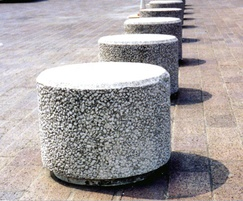 PAB NR Poole exposed aggregate concrete bollard