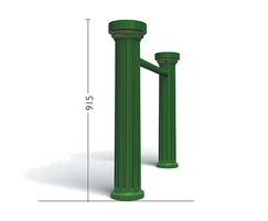 Doric Single Rail Cycle Stand - painted finish