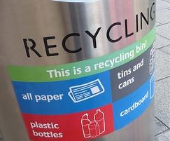 Zenith recycling litter bin close up
