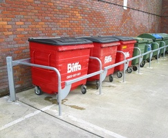 9-bay single sided galvanised steel recycling corral