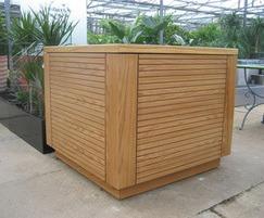 Tenerife timber planter