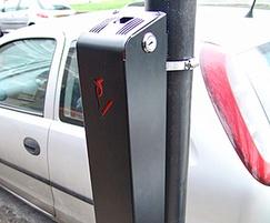 Ashby slimline powder coated steel post mounted