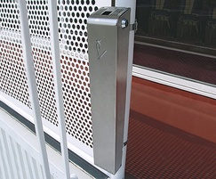 Ashby slimline stainless steel post mounted