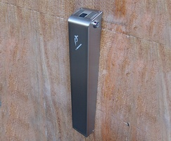 Ashby slimline stainless steel wall mounted