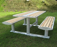 Zenith picnic table and picnic bench combination