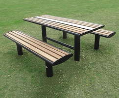 Zenith picnic table and picnic benches powder coated