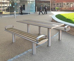 Zenith picnic table and picnic benches stainless steel