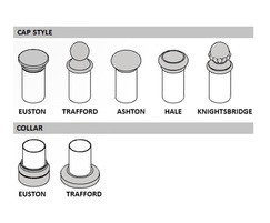Linx 100 Railing Cap and Collar choices