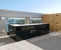 Bespoke roof terrace bar