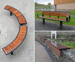 Zenith curved seating, Zenith Seat, Lapa Gabion Seating