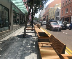 RailRoad seating & planters with edge supports