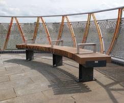 RailRoad Narrow 'Edge' bench