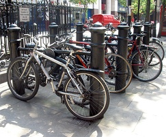 CAN500CP PT Cannon bollard traditional cycle stands
