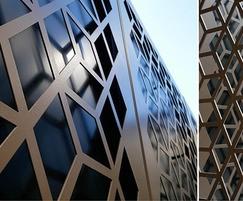 Bespoke laser cut decorative steel panels