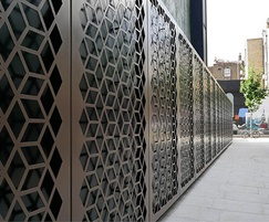 Screen detail for London public realm
