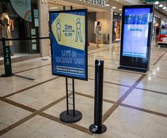 Zenith hand sanitiser dispenser in PPC Black - RAL9005