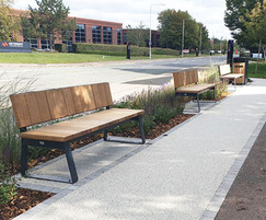 Contemporary outdoor seating for business park