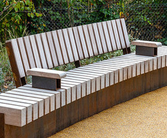 Bespoke seating for Russell Gardens, London