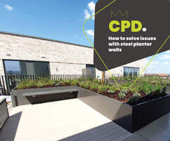 How to solve common issues with steel planter walls CPD