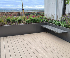 Sustainable raised planter beds for residential rooftop