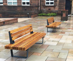 RailRoad Inline Edge straight outdoor seating