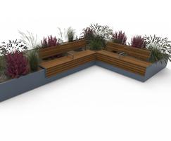 AKRI® 300 raised planter system - L Shape