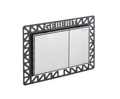 Geberit Sigma60 flush plate in brushed chrome