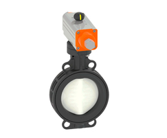 Type 565 butterfly valve with pneumatic actuator