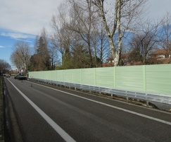 20M high recycled plastic PVC noise barrier