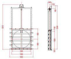 Medium duty 1500mm penstock