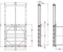 Medium duty 100mm penstock