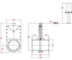 Inline 100mm penstock