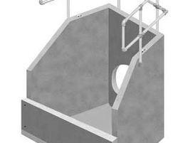 One piece heavy duty silt trap inlet