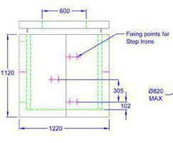 Inspection chamber 1220 x 1070 x 1120