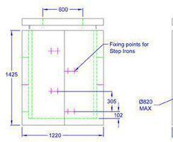 Inspection chamber 1220 x 1070 x 1425