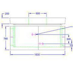 Inspection chamber 1830 x 1375 x 780