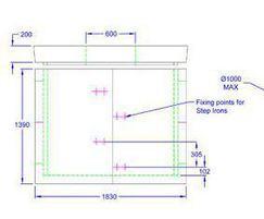 Inspection chamber 1830 x 1375 x 1390