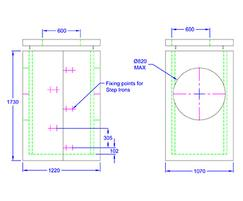Inspection chamber 1220 x 1070 x 1730