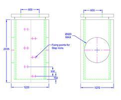 Inspection chamber 1220 x 1070 x 2035