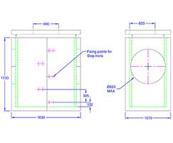 Inspection chamber 1630 x 1070 x 1730